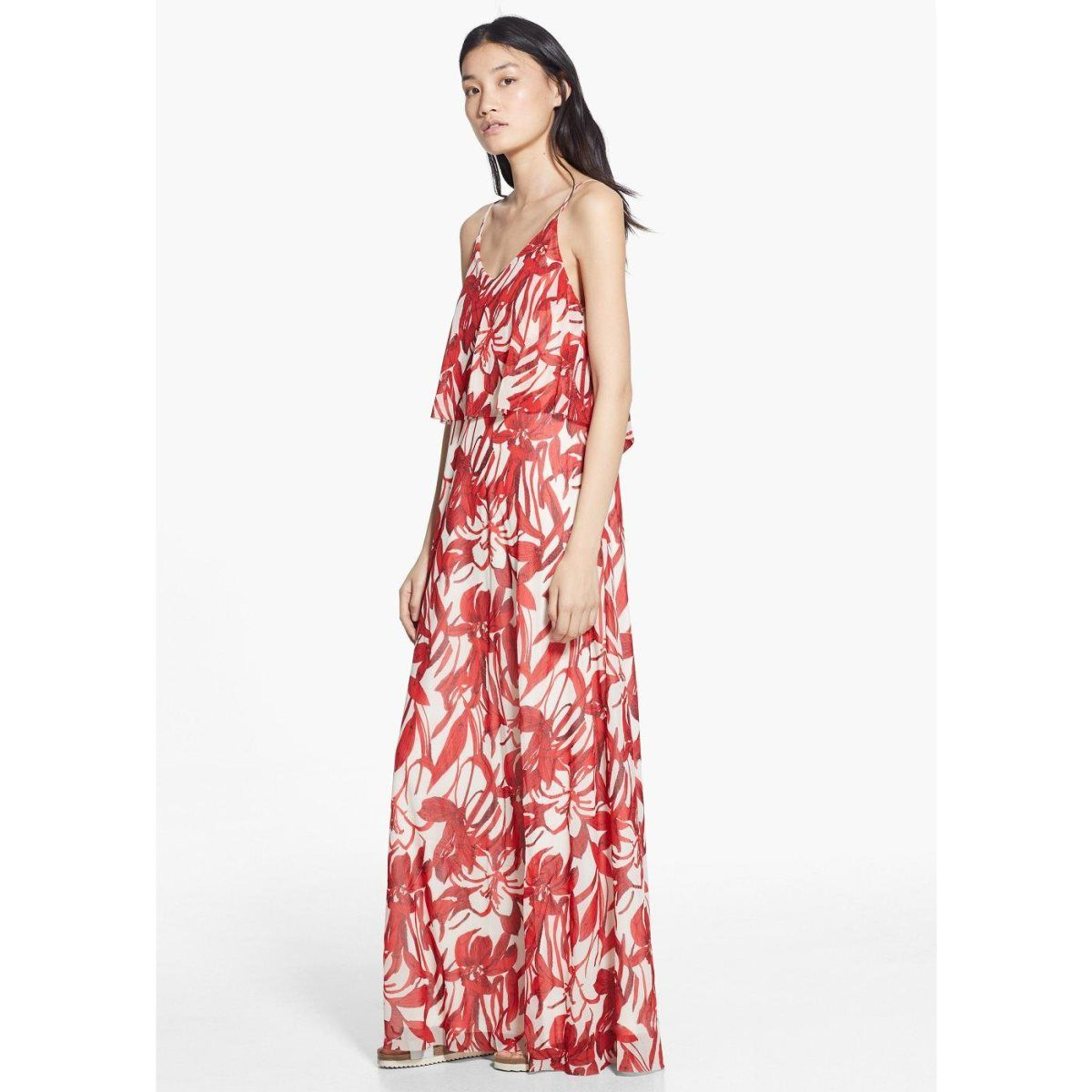 Robe longue à fleurs. Mango | La Redoute