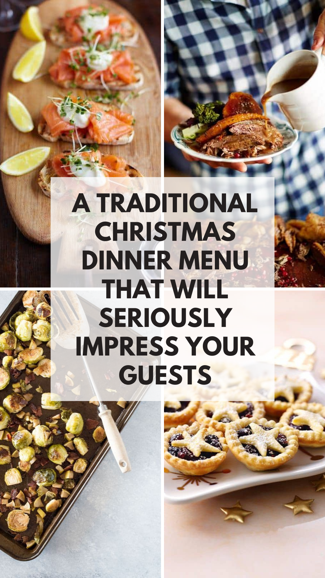 Oh my - if you want to go all out traditional with your Christmas dinner this year you have to check out these easy to follow menu! #christmas #christmasdinner #recipes #holidays #food