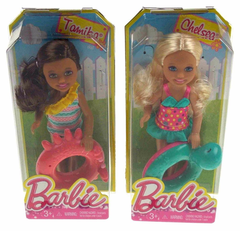 e39f743b1a57c Lot 2 Barbie Friends Dolls Sister Chelsea Tamika Swim Ring Swimming Bathing  Suit #DollswithClothingAccessories