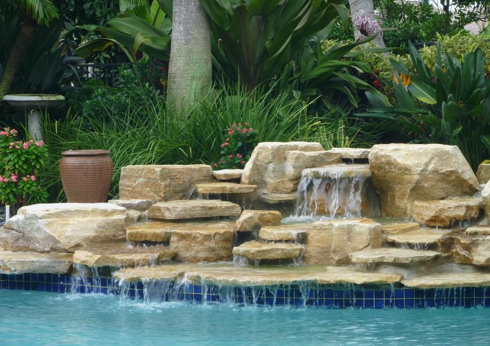 Swimming Pool Waterfall Designs Pool Waterfalls Pinterest Pool Cool Swimming Pool Waterfall Designs