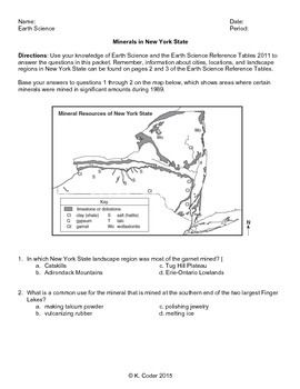 worksheet minerals in new york state editable with