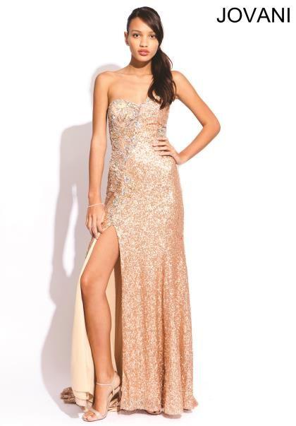 Gold Jovani Prom Dress - Ocodea.com