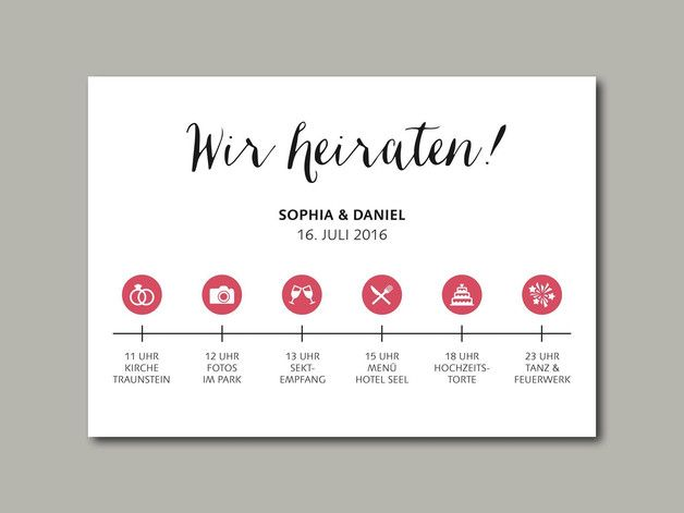 hochzeitseinladung timeline | zeitstrahl, hochzeitseinladung und, Einladung