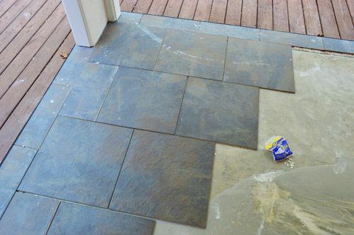 patio tiles concrete patio makeover