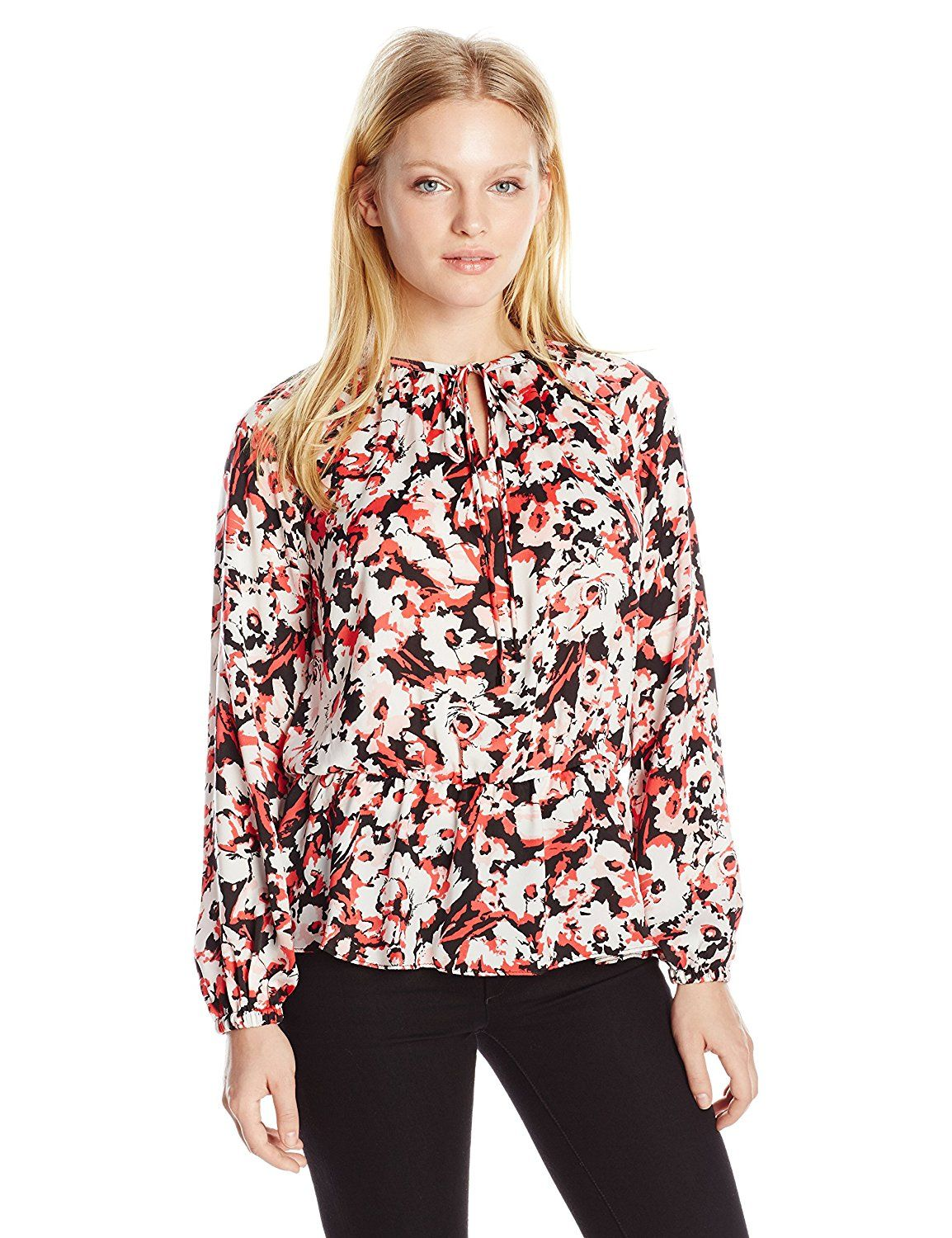 65f9409e002 Ellen Tracy Women s Petite Tie-Neck Top     This is an Amazon Affiliate  link. Continue to the product at the image link.