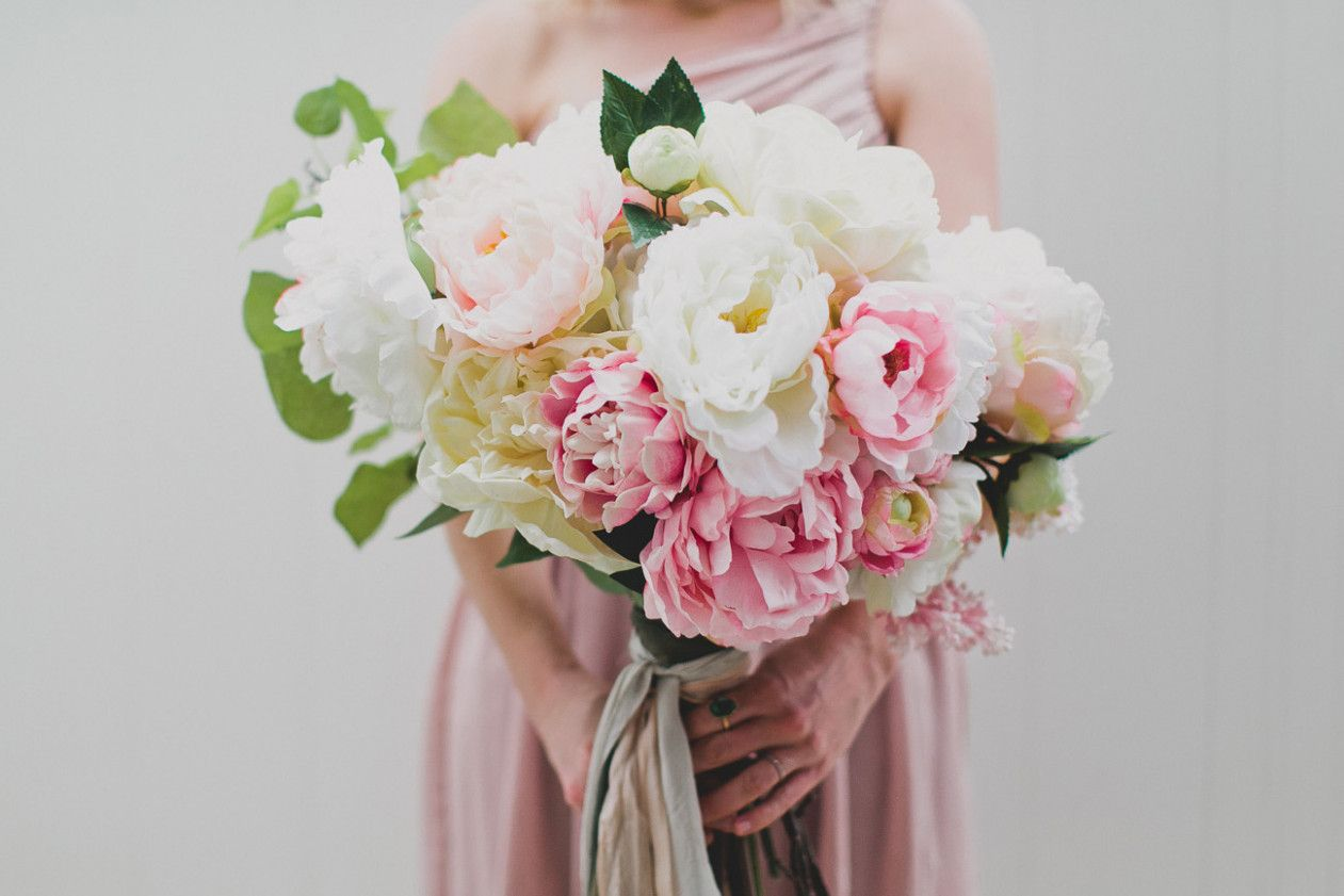 Diy Silk Flower Bouquet With Afloral Wedding Inspirations