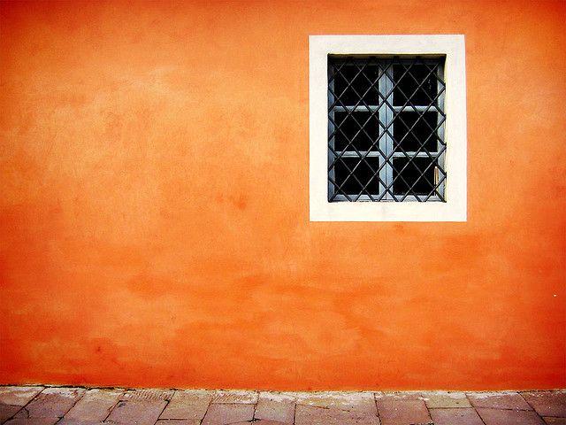 Orange Walls window on orange wall - lucca | paint techniques, walls and orange