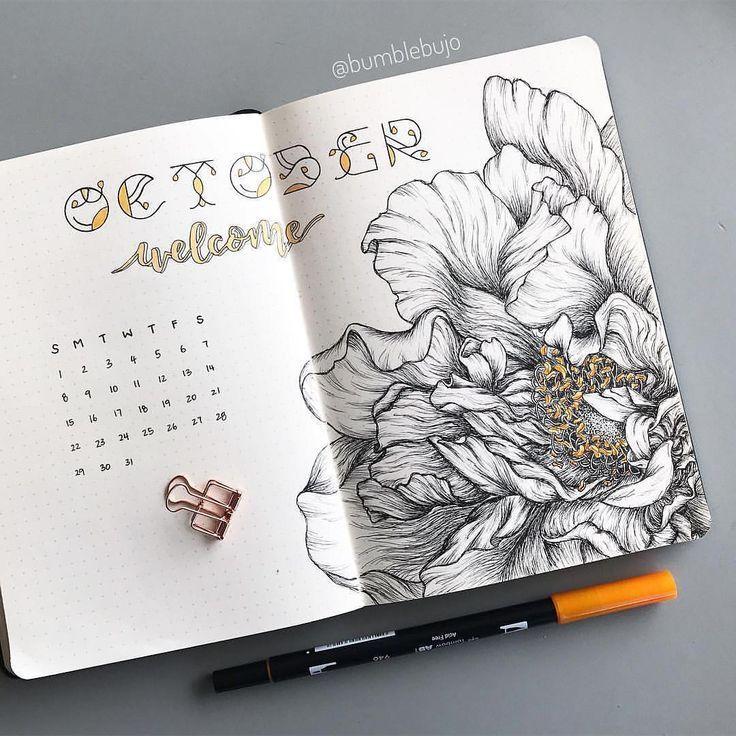 Creative Organization: Artistic Monthly Bullet Journal ...