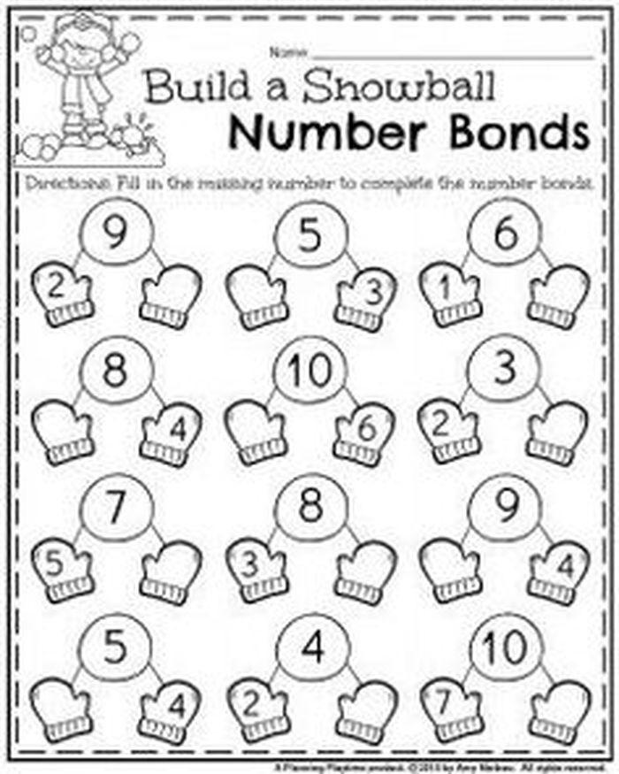 Number Bonds Worksheets   Tanulás, Tanítás