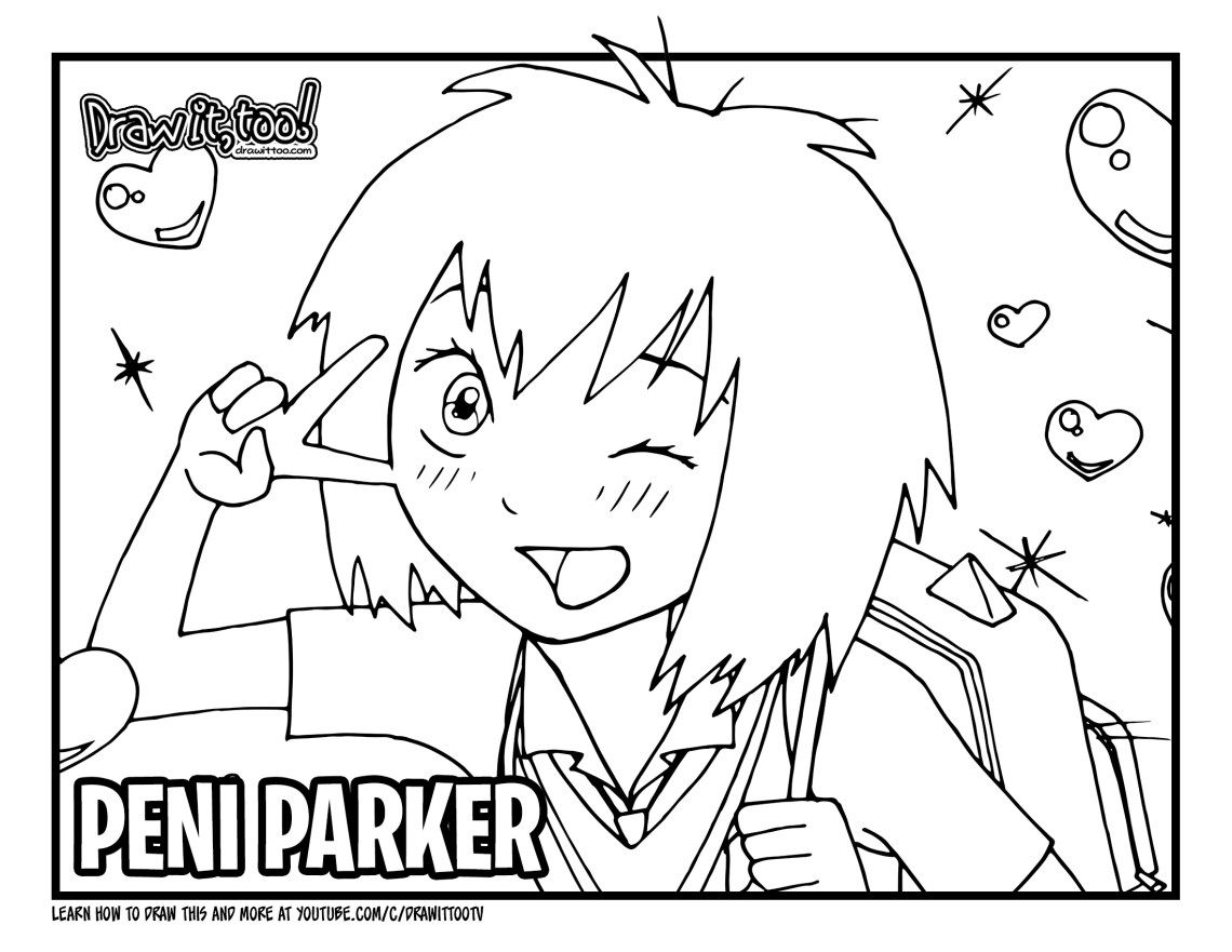 How to Draw PENI PARKER SpiderMan Into the SpiderVerse