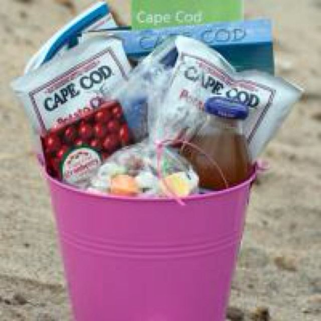 Wedding Gift Basket Love The Cape Favs Would Put In A Beach Bag Though Wedding Planning Gifts Coastal Wedding Gifts Wedding Gift Baskets