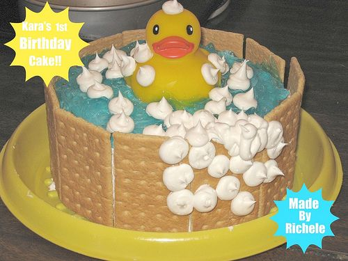 Duckie in a Tub First Birthday Cake Birthday cakes Cake and Cheap