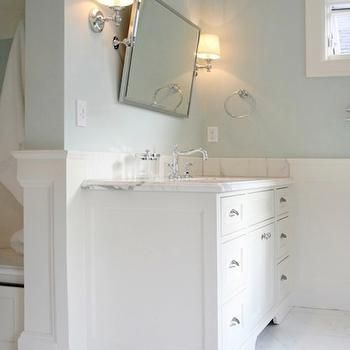 Bathroom Paint Colors Sherwin Williams Mountain Air Over White