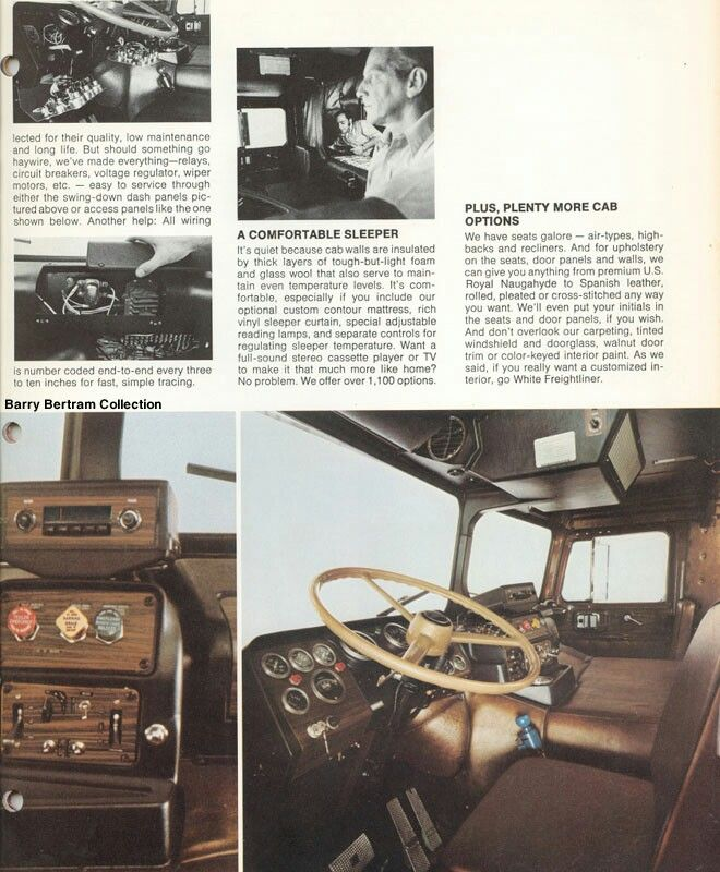 Pin By Dennis Lyons On Trucks Strange Rigs Freightliner Truck Interior Truck Transport