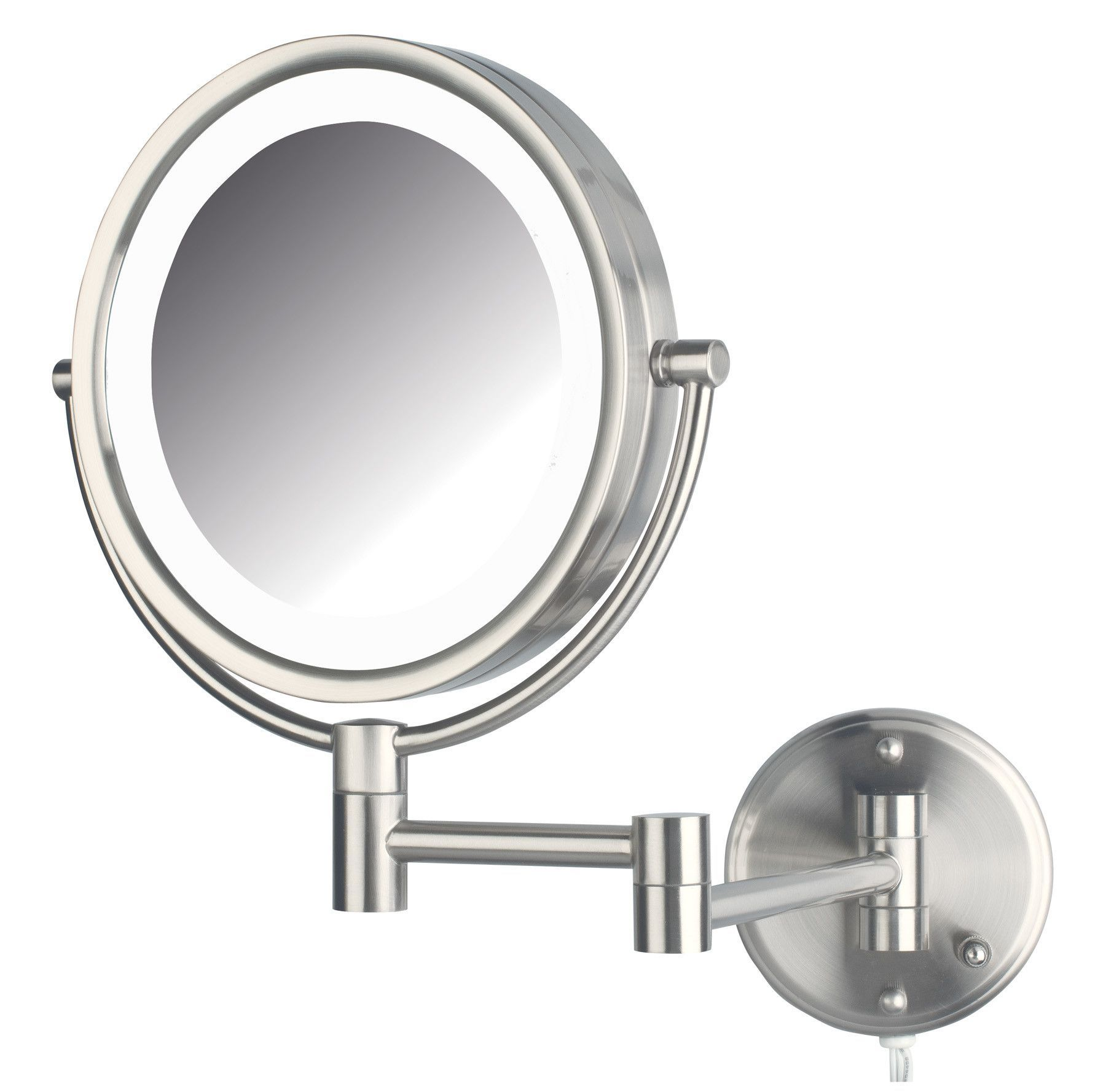 Whitehill dual sided wall mount lighted mirror side wall wall