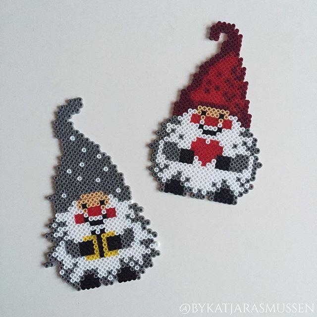 christmas gnomes hama beads by bykatjarasmussen perler. Black Bedroom Furniture Sets. Home Design Ideas