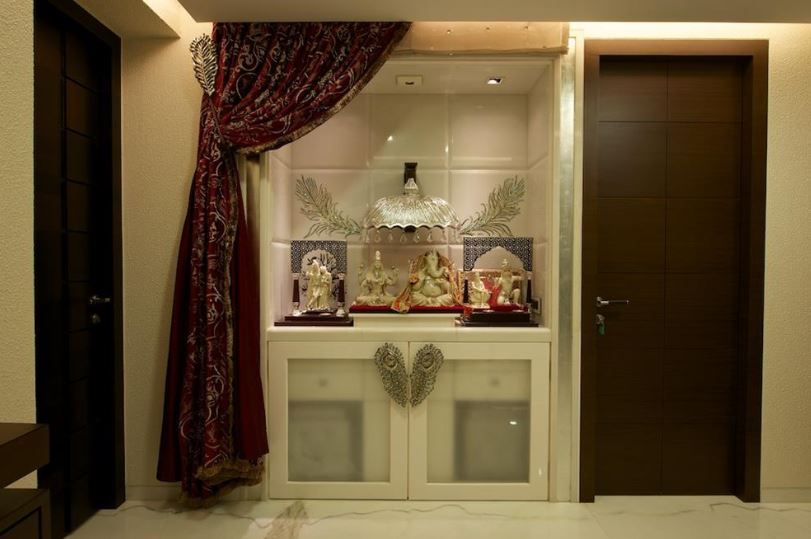 Inspiring Pooja Room Designs For Flats Contemporary Plan 3D house