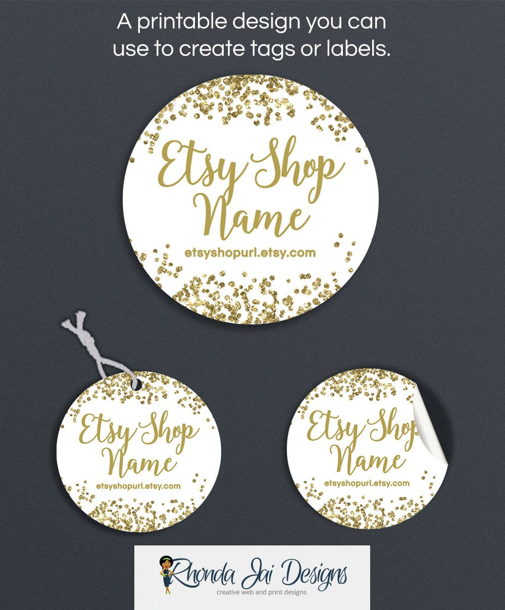 image about Printable Hang Tags referred to as Gold Material Tags - Products Labels - Printable Spherical Label