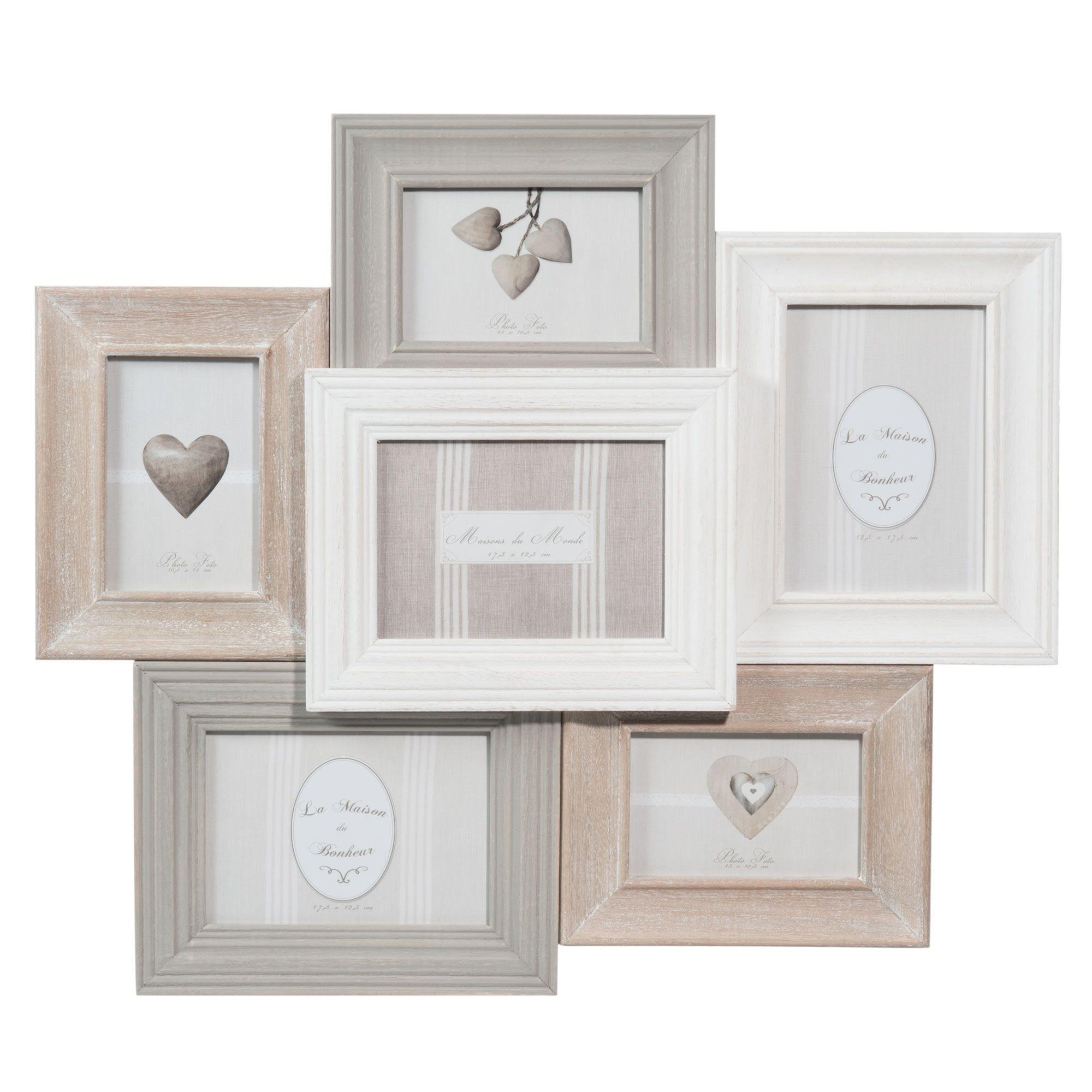 6-fach-Bilderrahmen CANTINE aus Holz, 53 x 60 cm Jetzt bestellen ...