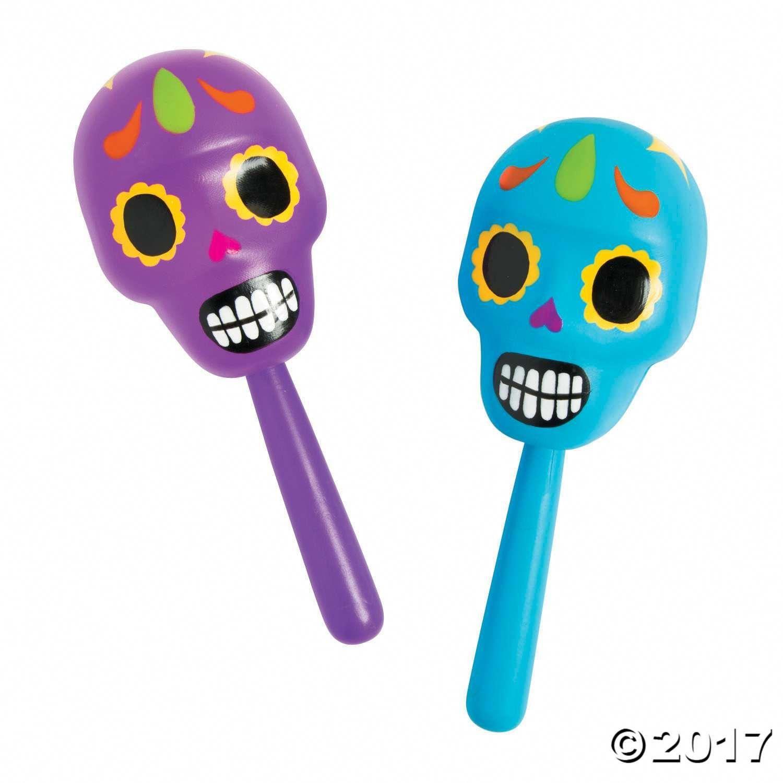 Molded Skull Maracas Simple Kid Crafts Ideas