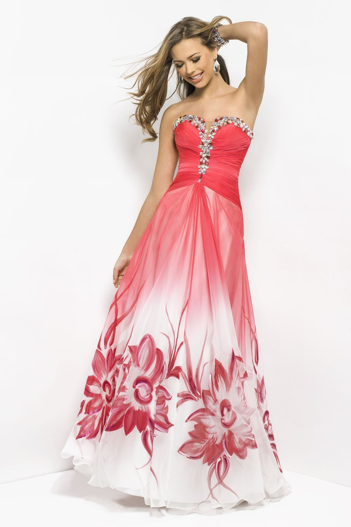 Beaded drama long prom dress! This sexy gown defines your bust in ...