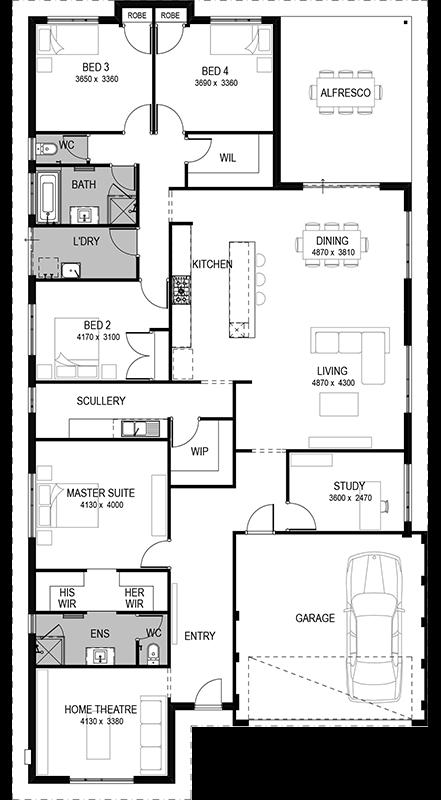 Floorplan Home Design Floor Plans Dream House Plans 4 Bedroom House Plans