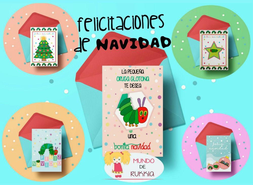 Felicitaciones Navideñas de la Oruga Glotona | Navidad niños, Oruga ...
