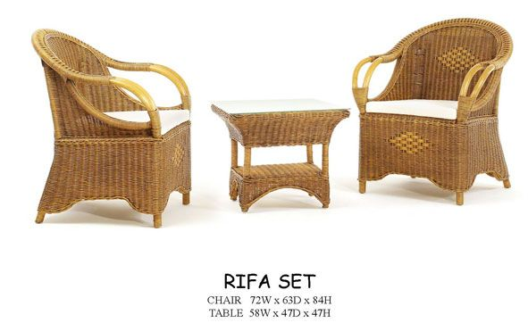 rifa rattan chairs table set rattan furniture pinterest