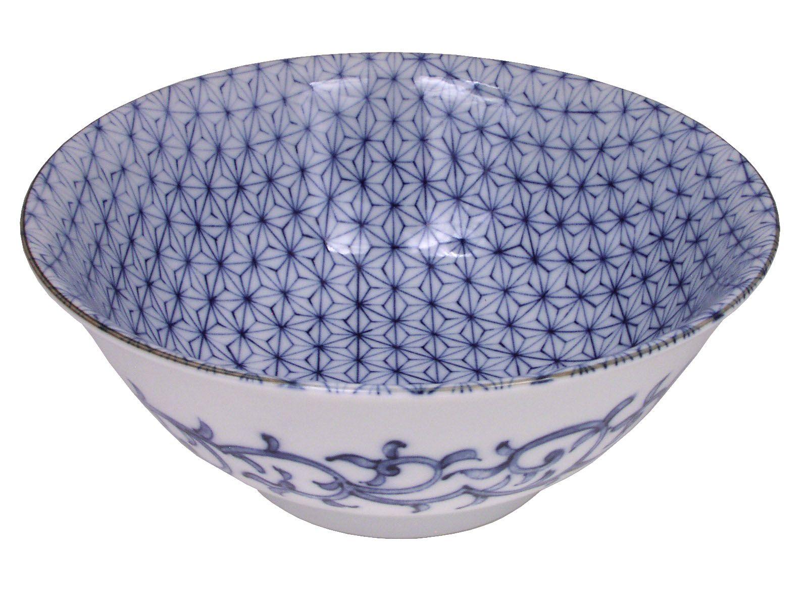 Sashiko Stitch Pattern Noodle Bowl With Images Sashiko Pattern Bowl Blue Ceramics