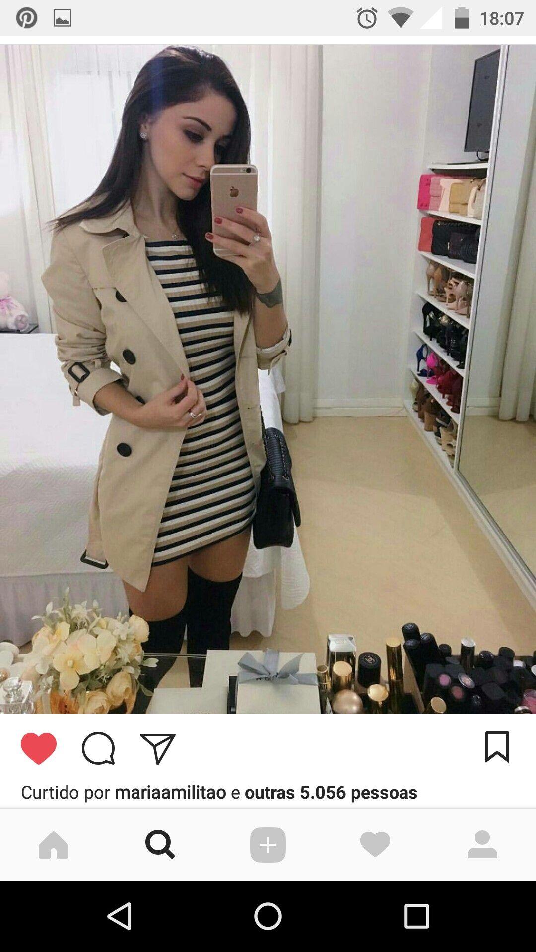 f5c90043f Sobretudo com vestido e bota. | Clothes em 2019 | Looks femininos ...