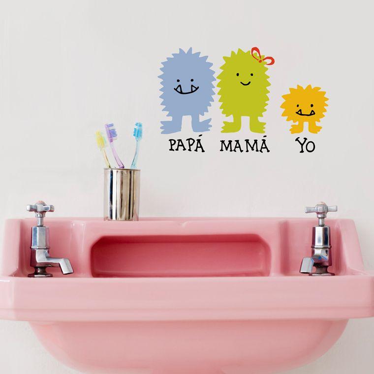 Vinilo familia monstruo papá mamá yo by javirroyo monster