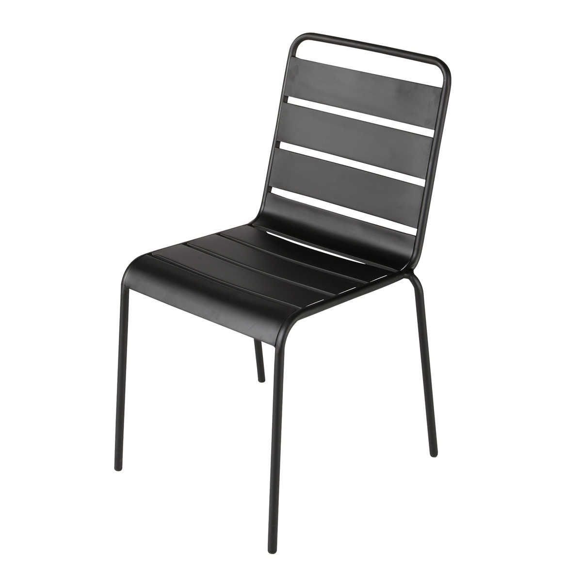 Charmant Metal Garden Chair In Black Batignoles