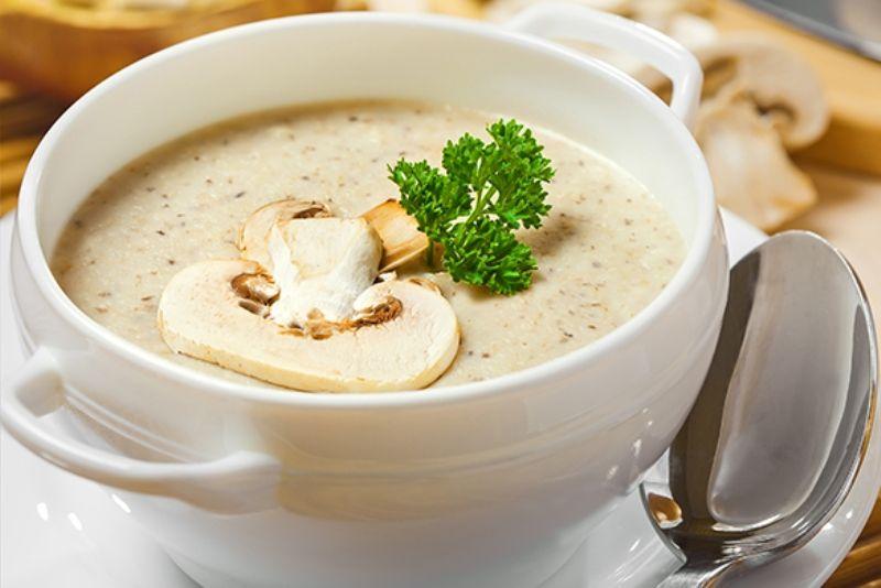 Суп пюре из шампиньонов с сыром рецепт пошагово