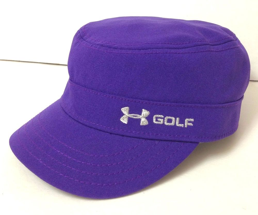 Dry Fit Polyester WOMENS UNDER ARMOUR GOLF HAT Purple Military Cadet Hat  Ladies  Underarmour  CadetMilitary  Athletic ef20024d9ef