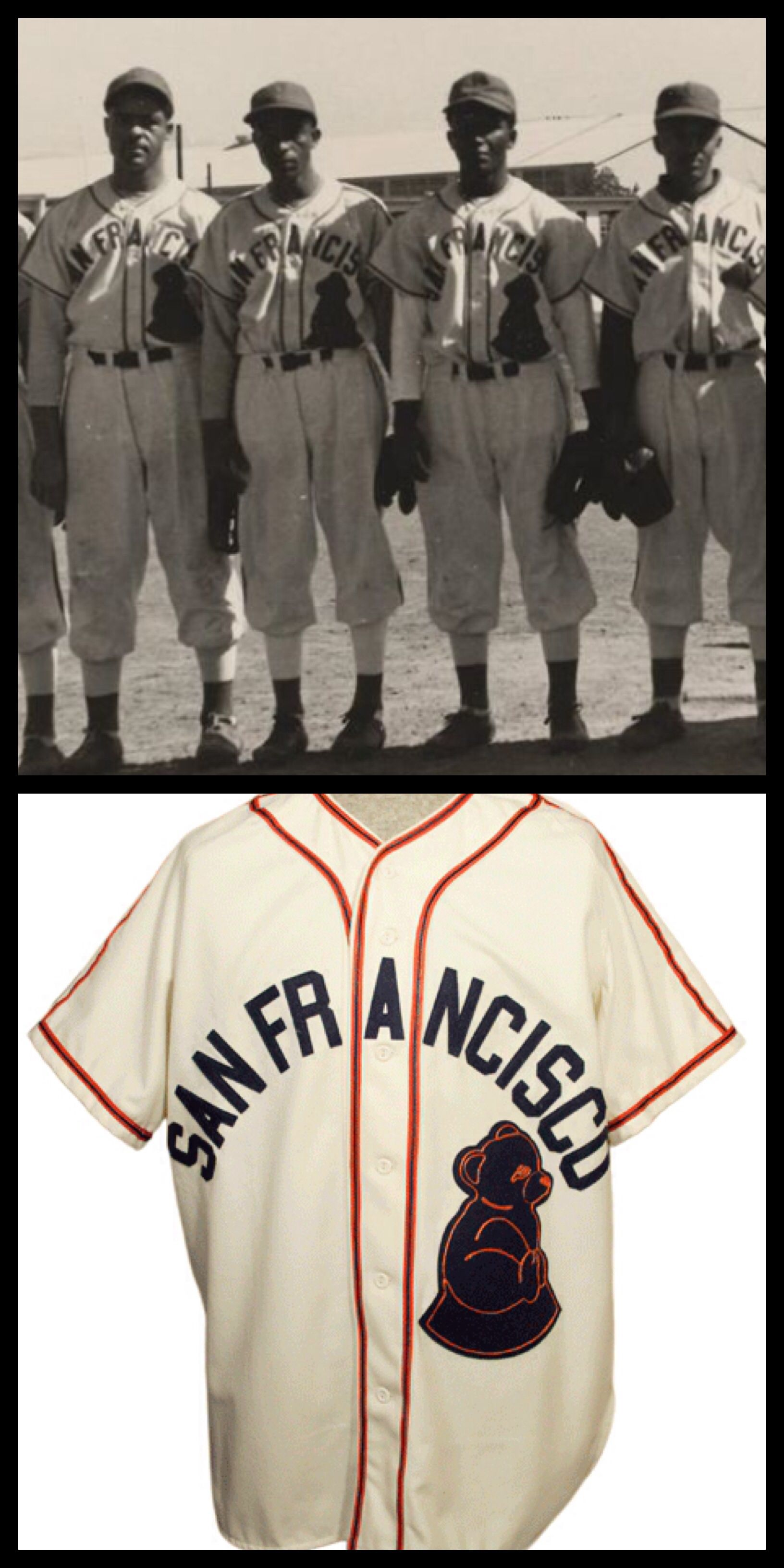 ba508d85158 1946 San Francisco Sea Lions (uniforms previously owned by a team called  the Cubs)