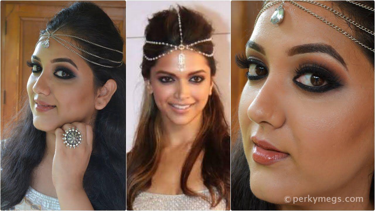 Deepika Padukone inspired black smokey eye makeup