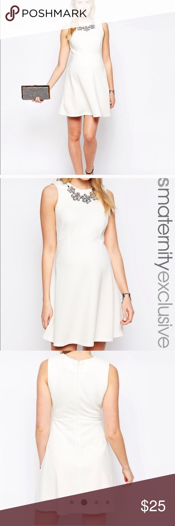 Asos maternity embellished necklace dress size 12 nwt asos dads asos maternity embellished necklace dress size 12 dress is brand new with tags gorgeous cream ombrellifo Image collections