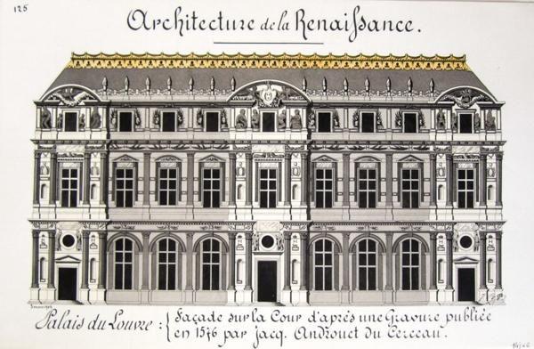 Le louvre pendant la renaissance architecture de la for Architecture de la renaissance