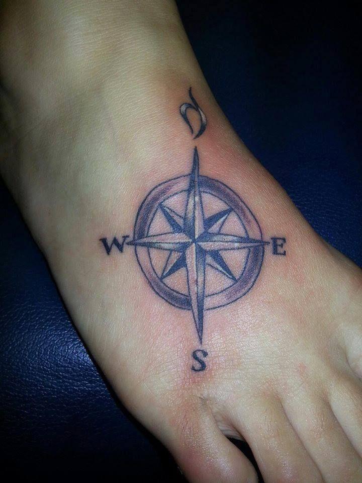 neda logo in compass foot tattoo tattoo pinterest