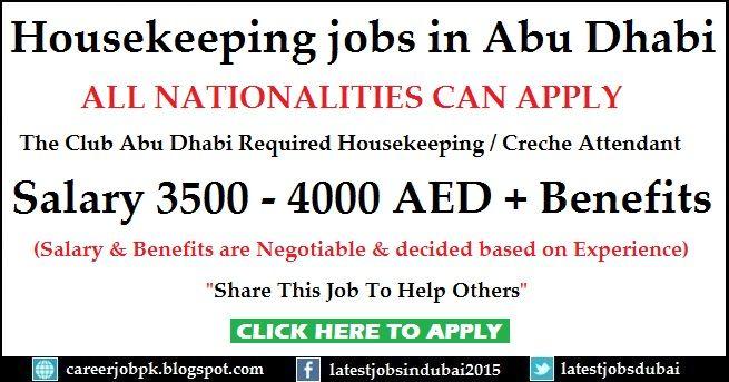 Housekeeping Room Attendant Jobs In Abu Dhabi The Club Abu Dhabi