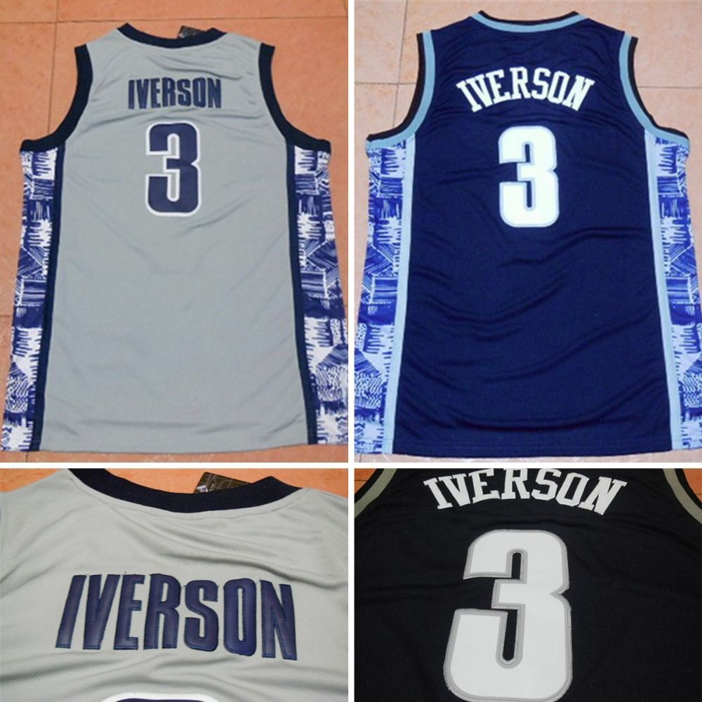 sports shoes b0f2e 44177 Aliexpress.com : Buy NEW Allen Iverson Georgetown Hoyas ...