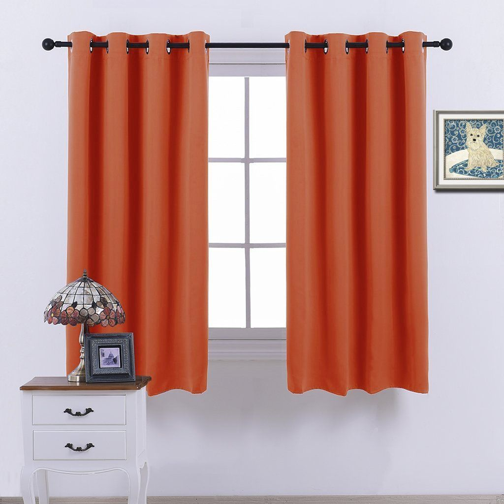 nicetown blackout curtains u0026 drapes orange noise reduction draperies for living room