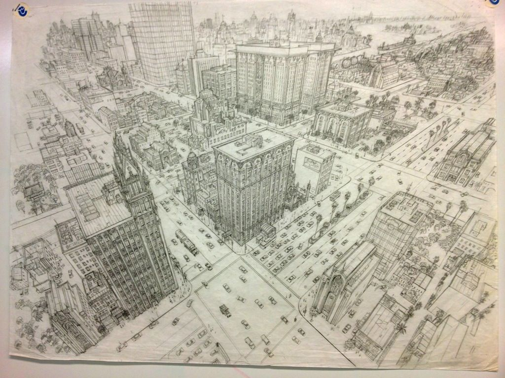 City scape in 3 point perspective by Gary Meyer | Drawing ...