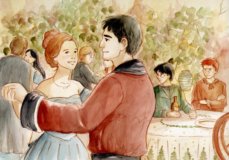 notice ron's harried expression in the background. Yule Ball, The Goblet of Fire, Viktor Krum asked hermione out