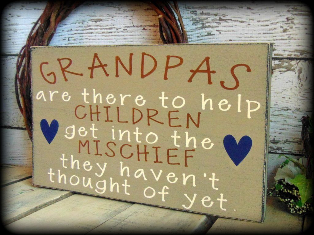 Funny Gift For Grandpa, Handmade Wooden Sign, Rustic Wood Home Decor ...