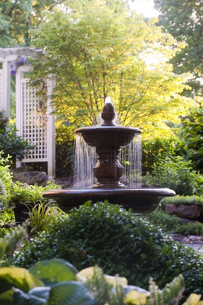 Water Feature, Arbor And Plantings By Gasper