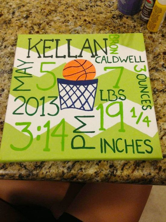 Basketball Baby Canvas by DevinePainting on Etsy, $35.00