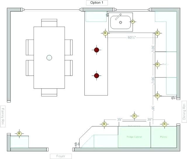 Kitchen Lighting Design Layout Recessed Spacing 640x546