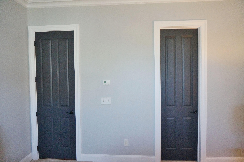 Benjamin Moore Stonington Gray Walls Bm Super White Trim Bm Wrought Iron Doors Painting Trim White House Paint Exterior Wrought Iron Doors