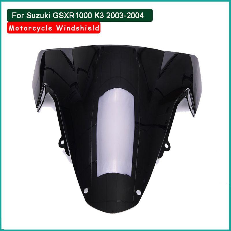Double Bubble Windshield Windscreen For Suzuki GSXR1000 2003-2004 K3